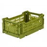 MINIBOX / Caisse pliable et empilable small / Folding crate / Taupe