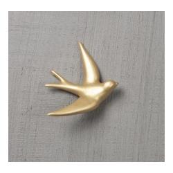 Hirondelle en céramique / or