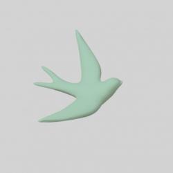 Hirondelle en céramique / fluo
