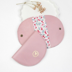 Porte-cartes Demi-Lune Rose