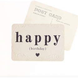 Carte Happy Birthday Old Paper