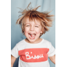 T-shirt Bisou brodé enfant