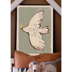 Poster Lapin 50x70 Terracotta