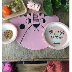 Set de vaisselle en bambou / Léopard