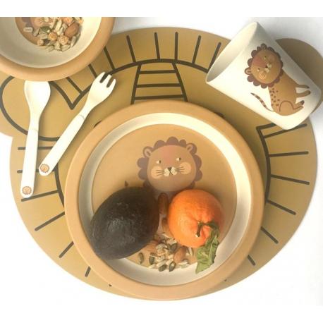 Set de vaisselle en bambou / Lion