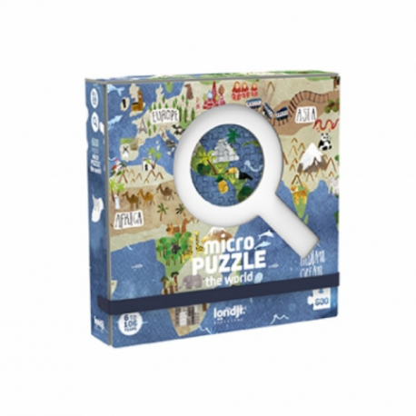 Micro puzzle 600 pièces / Monde / A partir de 6 ans