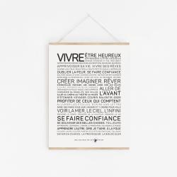 Affiche Vivre A2 40x60 cm