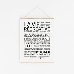 Affiche La vie récréative A2 40x60 cm