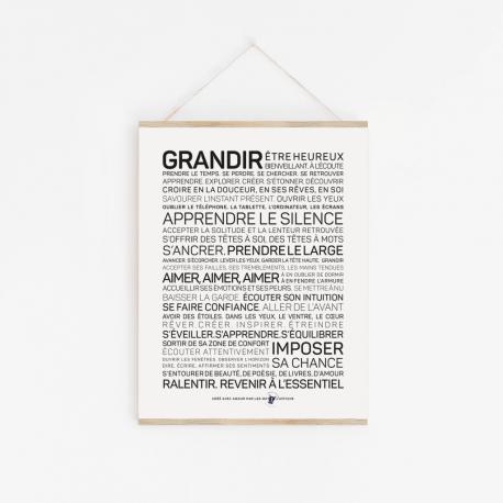 Affiche Grandir A4 / 21x29,7 cm