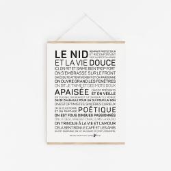 Affiche Le nid A4 / 21x29,7 cm