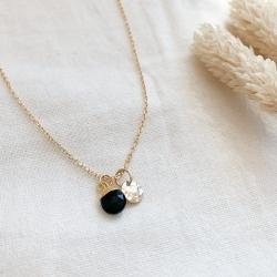 Collier Sixtine Onyx noir