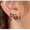 Boucles d'oreilles Cadenas (la paire)