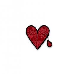 Broche Coeur blessé