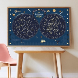 Poster éducatif Poppik / Carte du ciel / A partir de 7 ans