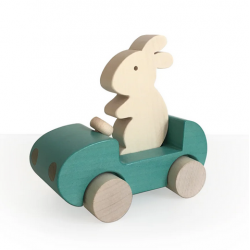 Bunny Car / turquoise