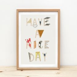 Affiche NICE DAY format A3