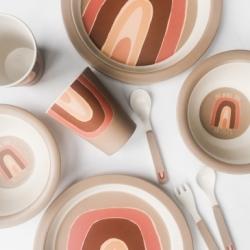 Set de vaisselle en bambou / Rainbow