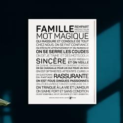 Affiche Famille A4 / 21x29,7 cm