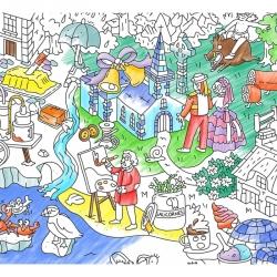Poster à colorier Bretagne
