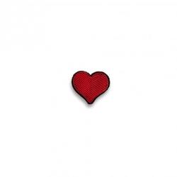 Broche brodée Coeur rouge