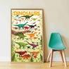 Poster éducatif Poppik / Les dinosaures / 5-12 ans