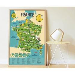 Poster éducatif Poppik / La France