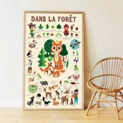 Poster éducatif Poppik / Dans la forêt / 3-8 ans
