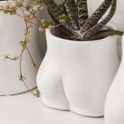 Pot céramique Bum White / 2 tailles