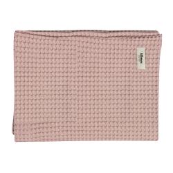 Couverture en coton gaufré Rose