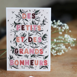 Affiche Petits et grands bonheurs / A5