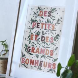 Affiche Petits et grands bonheurs / A4