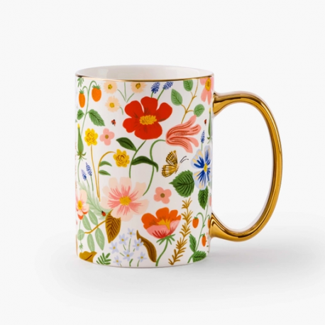 Mug en porcelaine Strawberry Fields