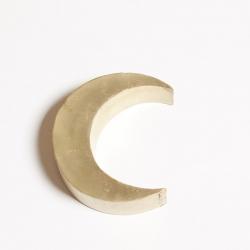 Grande lune décorative dorée