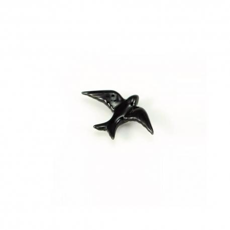 Hirondelle en céramique noire / XS