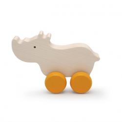 Rhinocéros en bois d'érable