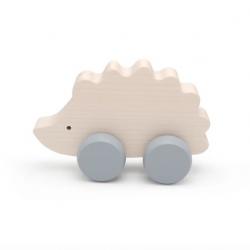 Hérisson à roulettes en bois d'érable