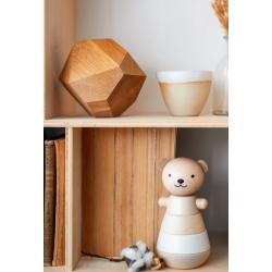 Ours en bois empilable / blanc