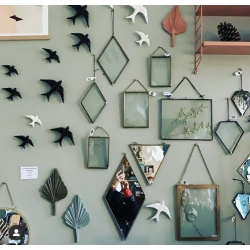 Miroir mural triangle