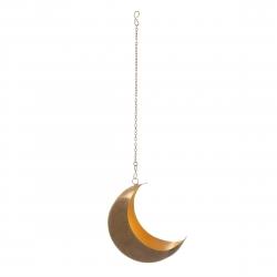Lune à suspendre en laiton doré