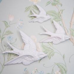 Set de 3 hirondelles White