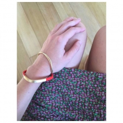 Bracelet Trinity carré Abricot