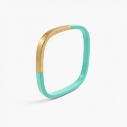 Bracelet Trinity carré Menthe