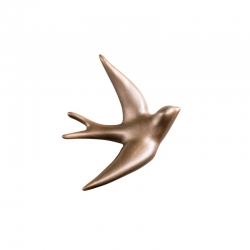 Hirondelle en céramique / Songe or
