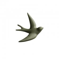 Hirondelle en céramique / Vert olive