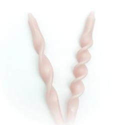 Bougies torsadées / lot de 2 / Pink