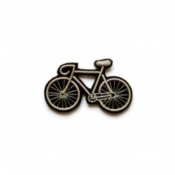 Broche brodée Vélo