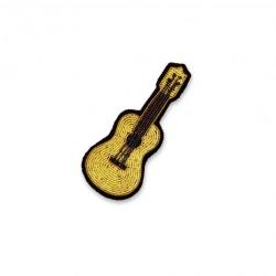Broche brodée Guitare