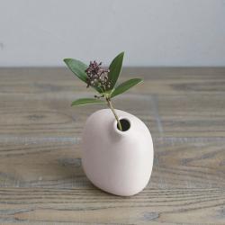 Vase Sacco en porcelaine 02 / Rose