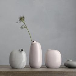 Vase Sacco en porcelaine 02 / Gris