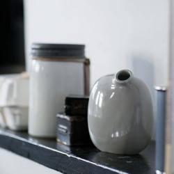 Vase Sacco en porcelaine 02 / Noir